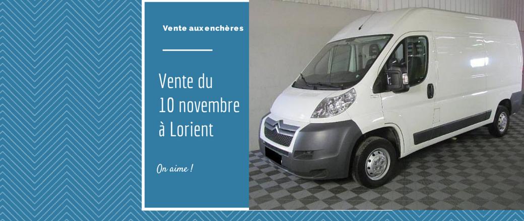 Vente du lundi 10 novembre à Lorient