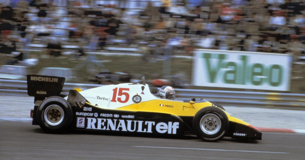 Formule 1 RE40 pilotée par Alain Prost