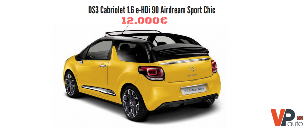 DS3 cabriolet Sport Chic :