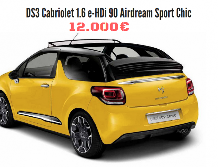 DS3 cabriolet Sport Chic : 12.000€ !!
