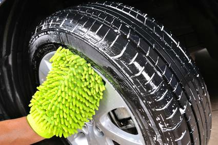 pneus lavés au bicarbonate de soude