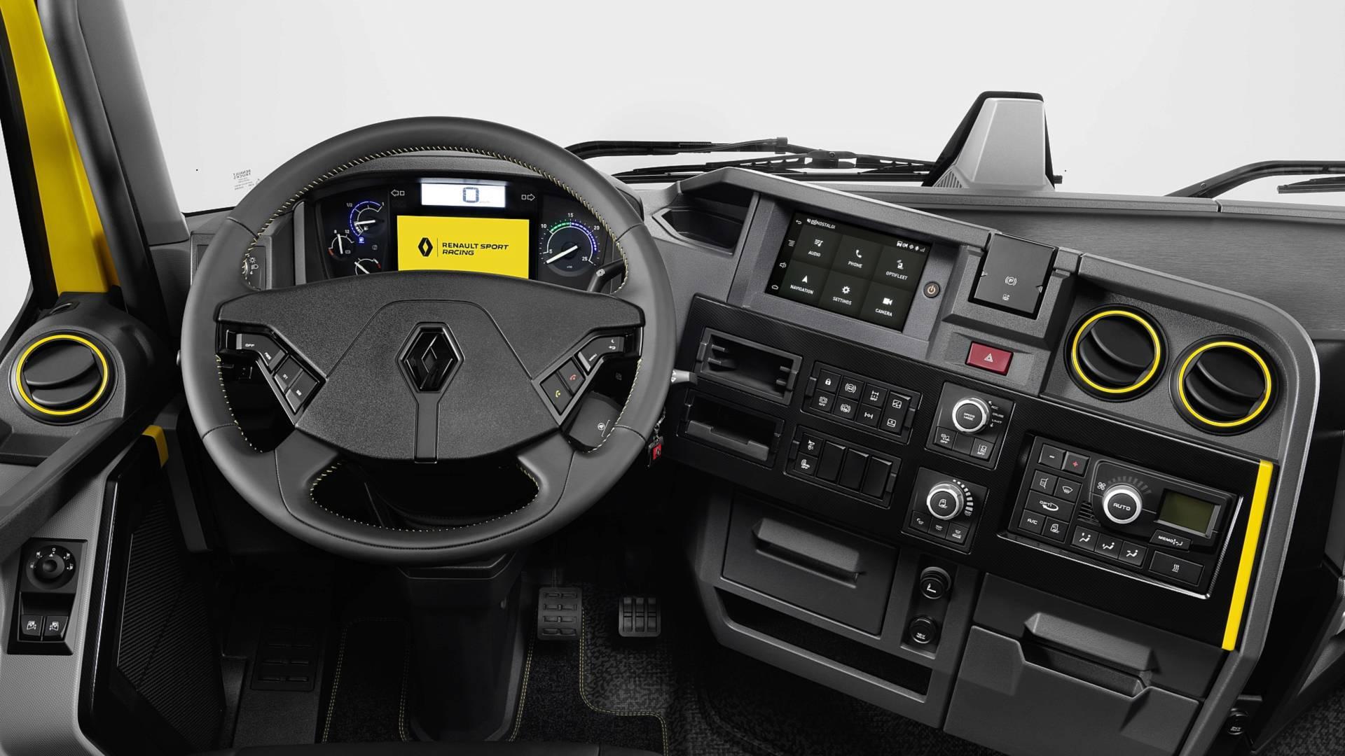 Camion Renault Sport tableau de bord