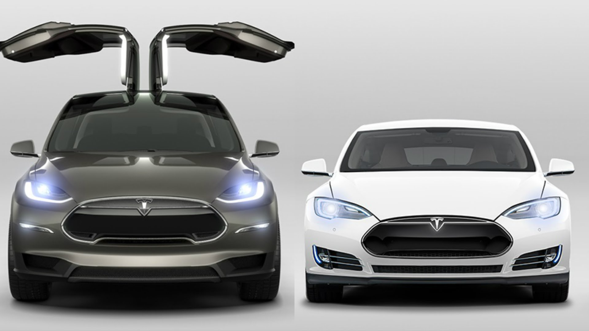 Tesla model X - model S