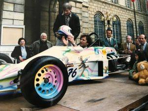 Formule Ford Kent Van Diemen revisitée par le peintre Daniel Authouart
