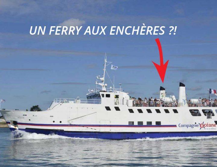 Un ferry en vente aux enchères à Lorient