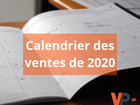 Calendrier des ventes de 2020