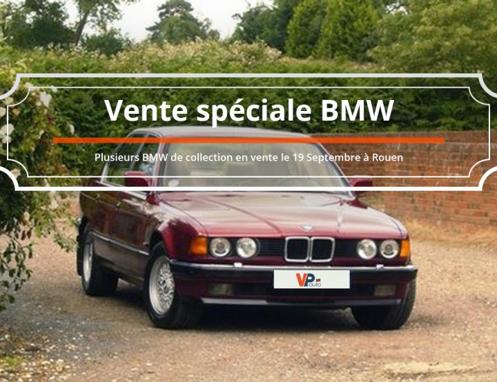 Vente aux enchères de plusieurs BMW de collection
